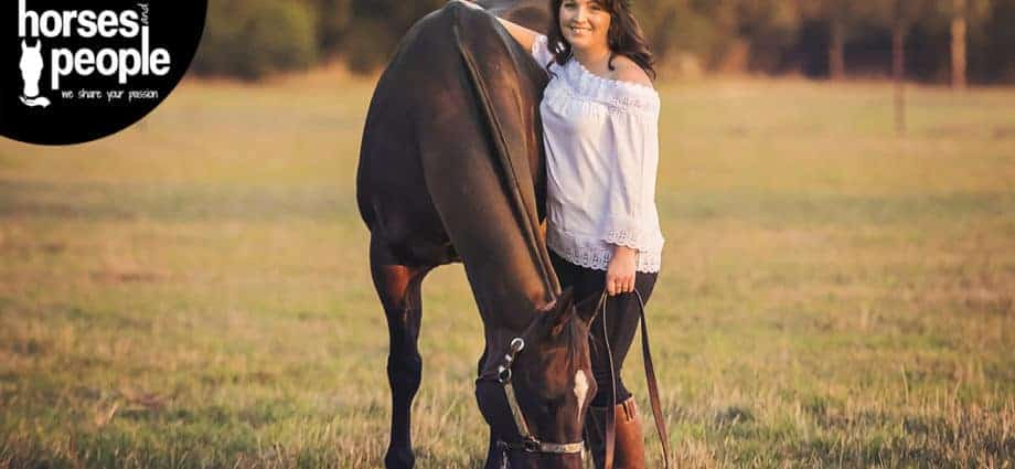 November 2018 issue cover. Louise Sedgman is of Angie Johnson and her Quarter Horse and sweetheart 'RL Double Hunch. Holding on to your sweetheart