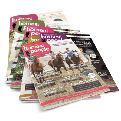Stack of 6 Horses and People Magazine issues. Horse care management and training resource