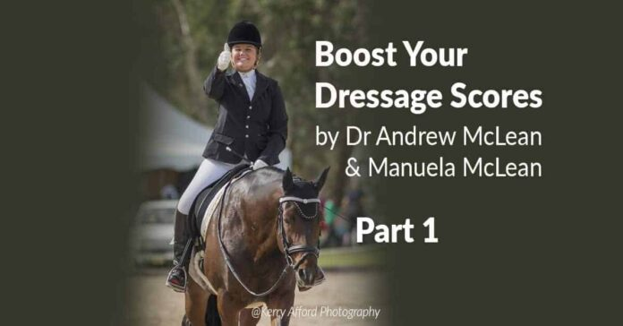Dressage horse learning theory. The training scale
