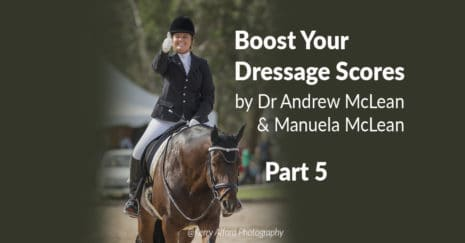 Boost your dressage scores. Developing rhythm and tempo