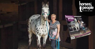 A leopard appaloosa named BJ poses for the camera with owner Kerrie Fitzgibbon
