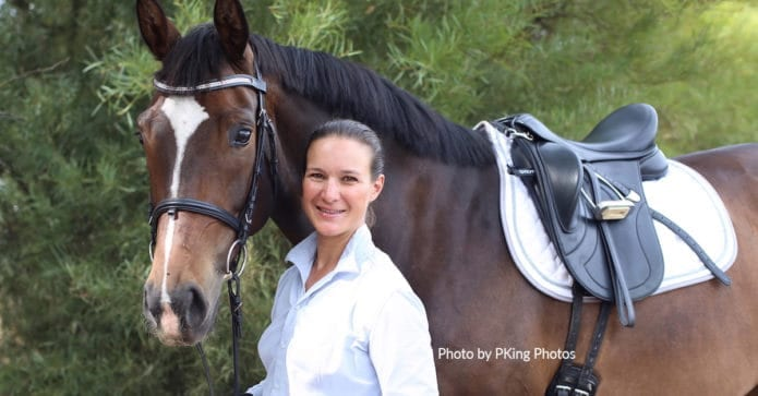 Katrin Kuenstler with her mare Sox who was diagnosed with C6/C7 malformation and eventually euthanised.