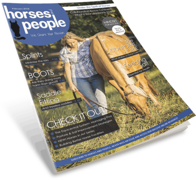 Horses and People February 2018 magazine cover