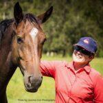 Larissa Bilston with bay horse. Photo by Jasmine Kerr Photography