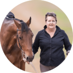 Linda Zupanc with her Standardbred horse Calle