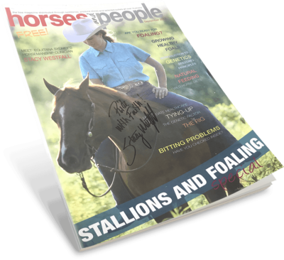 Horses and People September 2011 Magazine featuring Stacy Westfall. Autographed copy