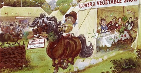 An example of Norman Thelwell's pony inspired comedy. pony stories