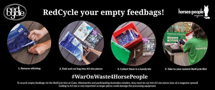 Did you know the polypropylene of horse feedbags can be recycled into new products? War on Waste horse feedbags