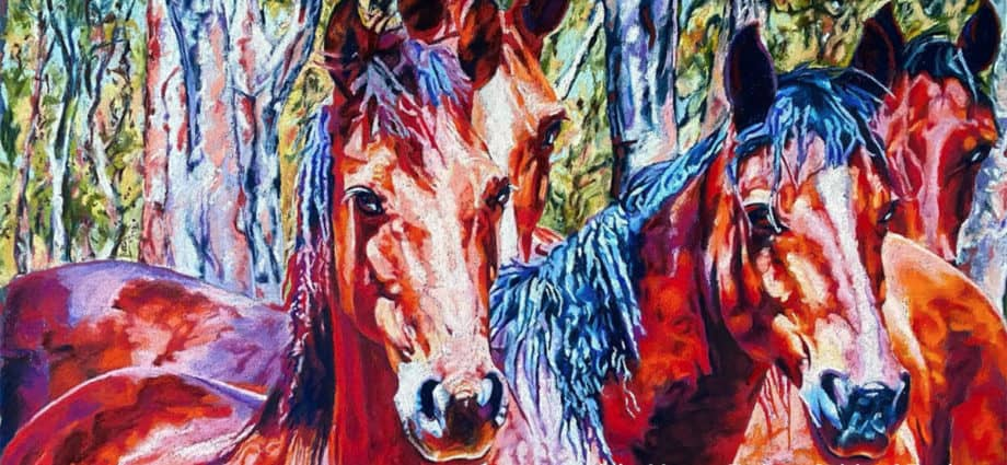 Original artwork of Barmah Brumbies by Yvette Frahn, Spirit of Equine
