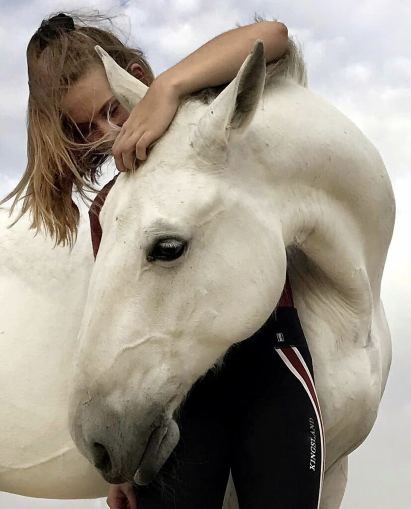 Mathilde Gregory with her horse Favory
