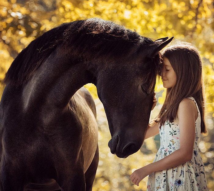 A girl and her beloved horse
