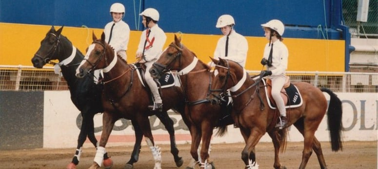 An image that includes Olympians Shane Rose (Eventing) and Edwina Tops Alexander (Show Jumping) who were members of the Avondale Pony Club. Image courtesy Pony Club Australia.