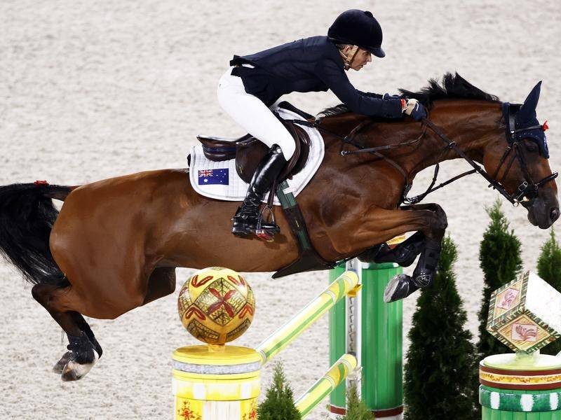 Edwina Tops-Alexander riding the 13-year-old bay mare Identity Vitseroel, with whom she has been partnered with since 2019